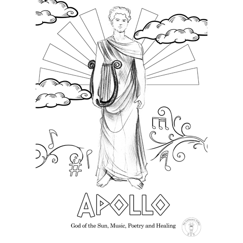 GREEK MYTHOLOGY Coloring Pages for Crafts, Mini Books, Interactive ... | 500x500